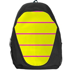 Background Image Horizontal Lines And Stripes Seamless Tileable Magenta Yellow Backpack Bag
