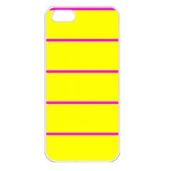 Background Image Horizontal Lines And Stripes Seamless Tileable Magenta Yellow Apple Iphone 5 Seamless Case (white)