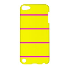 Background Image Horizontal Lines And Stripes Seamless Tileable Magenta Yellow Apple Ipod Touch 5 Hardshell Case