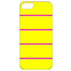Background Image Horizontal Lines And Stripes Seamless Tileable Magenta Yellow Apple Iphone 5 Classic Hardshell Case