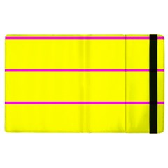 Background Image Horizontal Lines And Stripes Seamless Tileable Magenta Yellow Apple Ipad 3/4 Flip Case