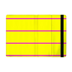 Background Image Horizontal Lines And Stripes Seamless Tileable Magenta Yellow Apple Ipad Mini Flip Case