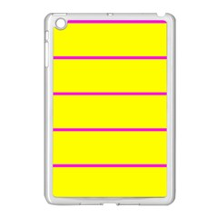 Background Image Horizontal Lines And Stripes Seamless Tileable Magenta Yellow Apple Ipad Mini Case (white)