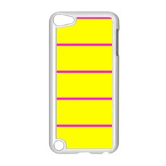Background Image Horizontal Lines And Stripes Seamless Tileable Magenta Yellow Apple Ipod Touch 5 Case (white)