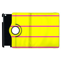 Background Image Horizontal Lines And Stripes Seamless Tileable Magenta Yellow Apple Ipad 3/4 Flip 360 Case