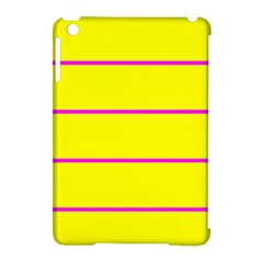 Background Image Horizontal Lines And Stripes Seamless Tileable Magenta Yellow Apple Ipad Mini Hardshell Case (compatible With Smart Cover)