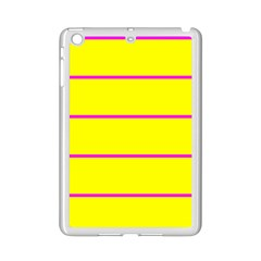 Background Image Horizontal Lines And Stripes Seamless Tileable Magenta Yellow Ipad Mini 2 Enamel Coated Cases