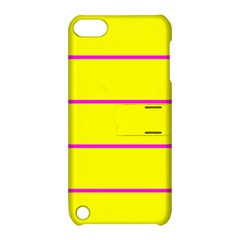 Background Image Horizontal Lines And Stripes Seamless Tileable Magenta Yellow Apple Ipod Touch 5 Hardshell Case With Stand