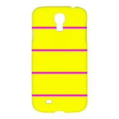 Background Image Horizontal Lines And Stripes Seamless Tileable Magenta Yellow Samsung Galaxy S4 I9500/i9505 Hardshell Case