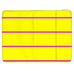 Background Image Horizontal Lines And Stripes Seamless Tileable Magenta Yellow Samsung Galaxy Tab 7  P1000 Flip Case