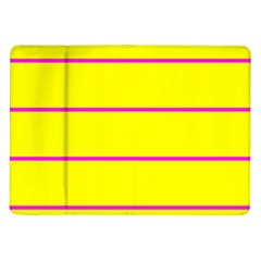 Background Image Horizontal Lines And Stripes Seamless Tileable Magenta Yellow Samsung Galaxy Tab 10 1  P7500 Flip Case