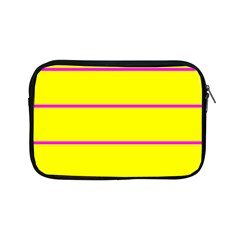Background Image Horizontal Lines And Stripes Seamless Tileable Magenta Yellow Apple Ipad Mini Zipper Cases
