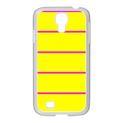 Background Image Horizontal Lines And Stripes Seamless Tileable Magenta Yellow Samsung Galaxy S4 I9500/ I9505 Case (white)