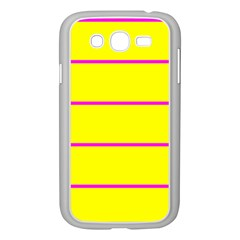 Background Image Horizontal Lines And Stripes Seamless Tileable Magenta Yellow Samsung Galaxy Grand Duos I9082 Case (white)