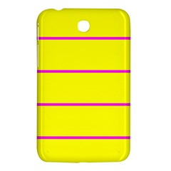 Background Image Horizontal Lines And Stripes Seamless Tileable Magenta Yellow Samsung Galaxy Tab 3 (7 ) P3200 Hardshell Case