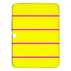 Background Image Horizontal Lines And Stripes Seamless Tileable Magenta Yellow Samsung Galaxy Tab 3 (10 1 ) P5200 Hardshell Case
