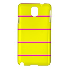 Background Image Horizontal Lines And Stripes Seamless Tileable Magenta Yellow Samsung Galaxy Note 3 N9005 Hardshell Case