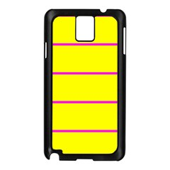 Background Image Horizontal Lines And Stripes Seamless Tileable Magenta Yellow Samsung Galaxy Note 3 N9005 Case (black)