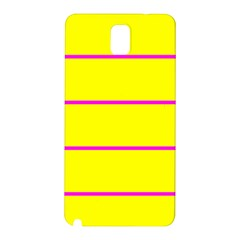 Background Image Horizontal Lines And Stripes Seamless Tileable Magenta Yellow Samsung Galaxy Note 3 N9005 Hardshell Back Case