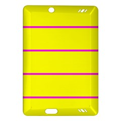 Background Image Horizontal Lines And Stripes Seamless Tileable Magenta Yellow Amazon Kindle Fire Hd (2013) Hardshell Case
