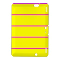 Background Image Horizontal Lines And Stripes Seamless Tileable Magenta Yellow Kindle Fire Hdx 8 9  Hardshell Case