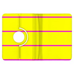 Background Image Horizontal Lines And Stripes Seamless Tileable Magenta Yellow Kindle Fire Hdx Flip 360 Case