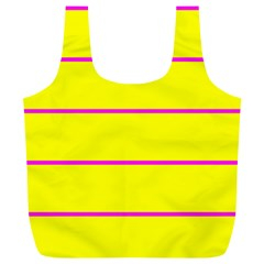 Background Image Horizontal Lines And Stripes Seamless Tileable Magenta Yellow Full Print Recycle Bags (l)