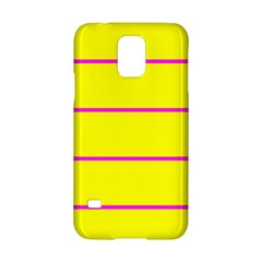 Background Image Horizontal Lines And Stripes Seamless Tileable Magenta Yellow Samsung Galaxy S5 Hardshell Case