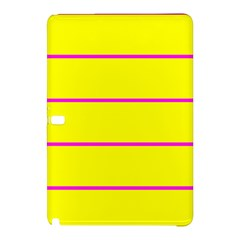 Background Image Horizontal Lines And Stripes Seamless Tileable Magenta Yellow Samsung Galaxy Tab Pro 12 2 Hardshell Case