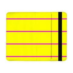 Background Image Horizontal Lines And Stripes Seamless Tileable Magenta Yellow Samsung Galaxy Tab Pro 8 4  Flip Case
