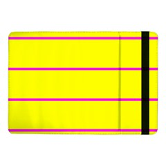 Background Image Horizontal Lines And Stripes Seamless Tileable Magenta Yellow Samsung Galaxy Tab Pro 10 1  Flip Case