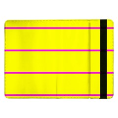 Background Image Horizontal Lines And Stripes Seamless Tileable Magenta Yellow Samsung Galaxy Tab Pro 12 2  Flip Case