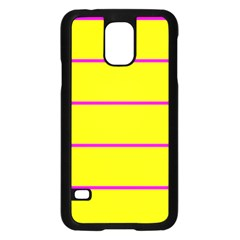 Background Image Horizontal Lines And Stripes Seamless Tileable Magenta Yellow Samsung Galaxy S5 Case (black)