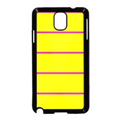Background Image Horizontal Lines And Stripes Seamless Tileable Magenta Yellow Samsung Galaxy Note 3 Neo Hardshell Case (black)