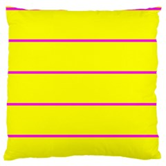 Background Image Horizontal Lines And Stripes Seamless Tileable Magenta Yellow Large Flano Cushion Case (two Sides)