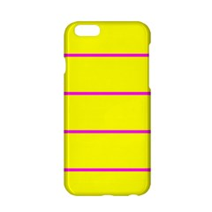 Background Image Horizontal Lines And Stripes Seamless Tileable Magenta Yellow Apple Iphone 6/6s Hardshell Case