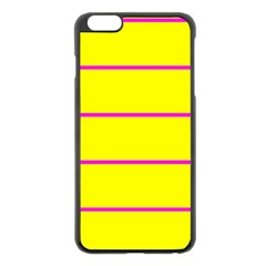 Background Image Horizontal Lines And Stripes Seamless Tileable Magenta Yellow Apple Iphone 6 Plus/6s Plus Black Enamel Case