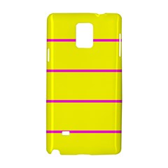 Background Image Horizontal Lines And Stripes Seamless Tileable Magenta Yellow Samsung Galaxy Note 4 Hardshell Case