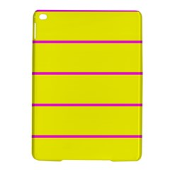 Background Image Horizontal Lines And Stripes Seamless Tileable Magenta Yellow Ipad Air 2 Hardshell Cases
