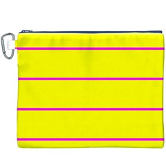 Background Image Horizontal Lines And Stripes Seamless Tileable Magenta Yellow Canvas Cosmetic Bag (xxxl)