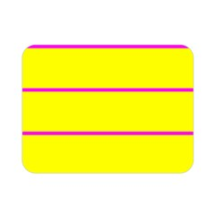 Background Image Horizontal Lines And Stripes Seamless Tileable Magenta Yellow Double Sided Flano Blanket (mini)