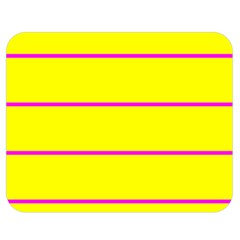 Background Image Horizontal Lines And Stripes Seamless Tileable Magenta Yellow Double Sided Flano Blanket (medium)