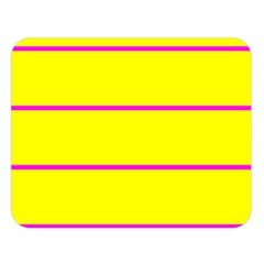 Background Image Horizontal Lines And Stripes Seamless Tileable Magenta Yellow Double Sided Flano Blanket (large)