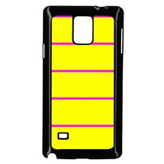 Background Image Horizontal Lines And Stripes Seamless Tileable Magenta Yellow Samsung Galaxy Note 4 Case (Black)