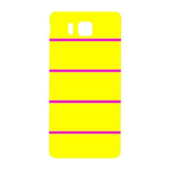 Background Image Horizontal Lines And Stripes Seamless Tileable Magenta Yellow Samsung Galaxy Alpha Hardshell Back Case