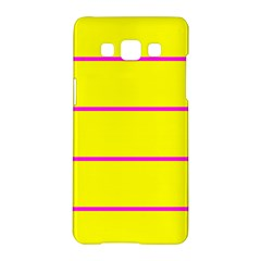 Background Image Horizontal Lines And Stripes Seamless Tileable Magenta Yellow Samsung Galaxy A5 Hardshell Case