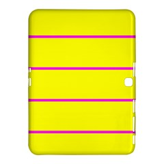 Background Image Horizontal Lines And Stripes Seamless Tileable Magenta Yellow Samsung Galaxy Tab 4 (10 1 ) Hardshell Case