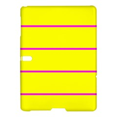 Background Image Horizontal Lines And Stripes Seamless Tileable Magenta Yellow Samsung Galaxy Tab S (10 5 ) Hardshell Case