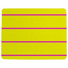 Background Image Horizontal Lines And Stripes Seamless Tileable Magenta Yellow Jigsaw Puzzle Photo Stand (rectangular)