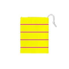 Background Image Horizontal Lines And Stripes Seamless Tileable Magenta Yellow Drawstring Pouches (XS)